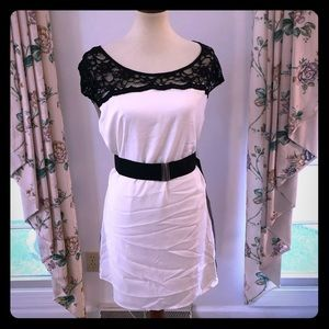 NWT Express Silk Color Black Dress
